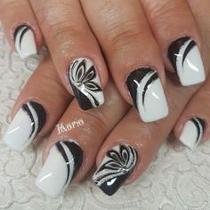 Started With Innovative Nail Art Designs Great black and white nail art designGreat black and white nail art design Black Nail Designs, Gel Nail Designs, Pretty Nail Art, Beautiful Nail Art, Stylish Nails, Trendy Nails, Fancy Nails, My Nails, Sparkle Nails