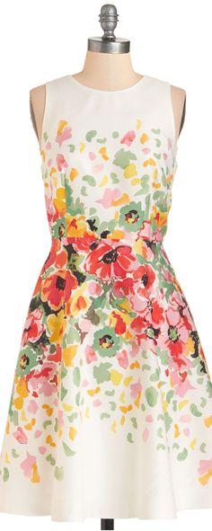 New Arrivals - Watercolor Waltz Dress Pretty Outfits, Pretty Dresses, Beautiful Dresses, Cute Outfits, Estilo Floral, Retro Vintage Dresses, Mod Dress, Floral Fashion, Dress Me Up