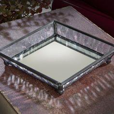 J. Devlin Tra 130 Glass Jewelry Tray With Mirror Bottom