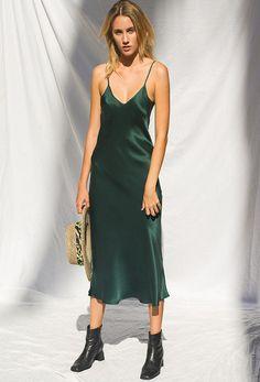 90's-inspired slip dress