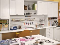 Would love to have a room big enough for a center worktable like this