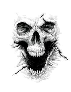Calavera sonriente skulls