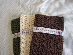 CROCHET   --   Everyday Handmade: Simple Lacy Look Dish Cloth