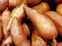 Sweet Potatoes are a great source of fiber, vitamin B6 and beta carotene, which is good for your eyes.