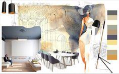 "Modern style living room moodboard by Inna Grigorieva, ""Interior design"" course student in European Design School, Kiev, Ukraine. Коллаж настроения гостиной в современном стиле, автор - слушательница курса ""Дизайн интерьера"" в Европейской Школе Дизайна Инна Григорьева. #style #moodboard #interiordesign #modern"