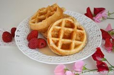 Out of eggs and promised the kids waffles...used coconut oil instead of vegetable oil and they were awesome