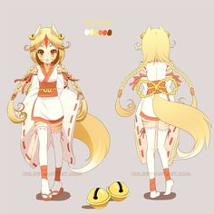 Adopted by the lovely Info: A kitsune/fox girl named Suzu (鈴). Her name means 'bell' in Japanese By winning this auction, you get A full size version bigger) of the c. Female Character Design, Character Design References, Character Drawing, Character Design Inspiration, Character Concept, Cute Characters, Anime Characters, Kawaii, Manga Art