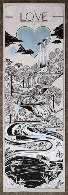 Love Print from David Hale Love Hawk Studio: