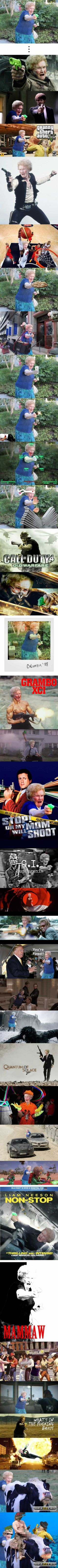 Omg Grandma with a gun