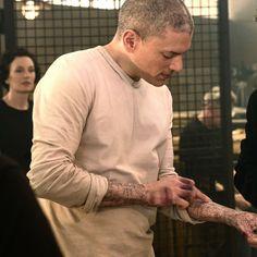 Michael's new tattoos #PrisonBreak