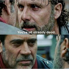 HAHA! Fuck you and your fucking ridiculous ego, Negan! Rick will never bow to you again! I can't wait to see Carl murder this prick! Come on, Carl!
