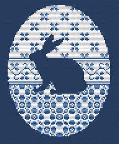 Cross stitch pattern rabbit silhuette hare vintage от LaMariaCha