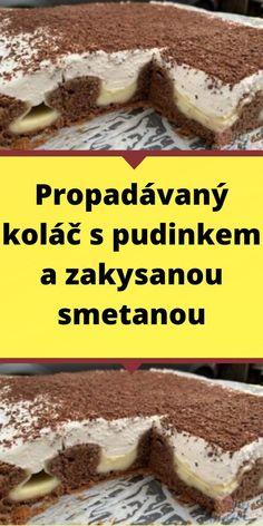 Czech Desserts, Sweet Desserts, Cheesecakes, No Bake Cake, Food Hacks, Ham, Deserts, Good Food, Food And Drink