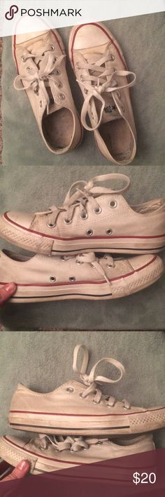 Womens Converse Used converse that still have a lot of life left in them, they just need a good washing. Mens size 4 Womens size 6 Converse Shoes Sneakers