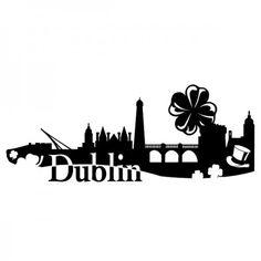 Dublin ist die Hauptstadt und größte Stadt der Republik Irland. Shamrock, auch genannt als kleiner Klee, ist das inoffizielle Nationalsymbol Irlands. #Dublin #Kleeblatt #Skyline #Wadeco // http://www.wadeco.de/dublin-kleeblatt-wandtattoo.html