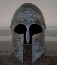 Corinthian helmet Spartan Helmet, Spartan Warrior, Helmet Armor, Arm Armor, Medieval Knight, Medieval Fantasy, Corinthian Helmet, Ancient Armor, Knight In Shining Armor