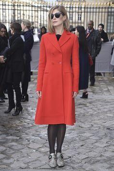 Rosamund Pike au défilé Dior.