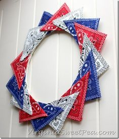 Declare your independence from store-bought Fourth of July décor and craft your own patriotic, DIY wreath Fourth Of July Decor, 4th Of July Decorations, 4th Of July Wreath, July 4th, Summer Wreath, Holiday Decorations, Patriotic Crafts, Patriotic Wreath, Patriotic Party