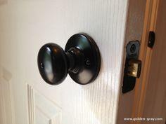 Spray painting brass door knobs and fixtures