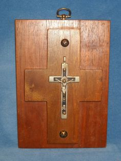 "Antique Victorian Catholic Pectoral Cross Crucifix Skull Cross Bones 6"" x 2"""