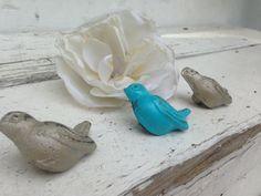Drawer Pulls / Drawer Knobs / bird knobs Shabby by LaBellasCottage