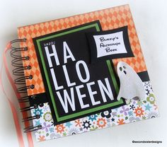 2017 MNSSHP Disney Halloween  OOAK  Custom  Personalized autograph and scrapbook combo Holds 40 photos and 40 autographs.