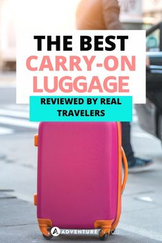 If you are a fan of packing light, carry-on luggage is the best travel gear, so we've rounded up the top picks of the best carry-on luggage reviewed by real travelers! Luggage Reviews, Best Carry On Luggage, Packing Light, Good Things, Adventure, Travel, Viajes, Pack A Suitcase, Destinations