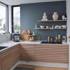 31 Modern Kitchen Area Ideas Every Residence Prepare Requirements to See Cosy Kitchen, Rustic Kitchen Cabinets, Scandinavian Kitchen, Kitchen Furniture, Kitchen Interior, New Kitchen, Kitchen Decor, Home Living, Kitchen Living