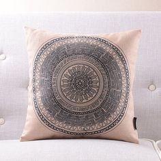 "18"" Bohemian Unique Geometric Style Cotton Linen Cushion Cover Ikea Retro Pillow Case Sofa Home Decorative Throw Pillow HD59-in Cushion from Home & Garden on Aliexpress.com 