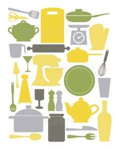 Printable Digital Download - Kitchen Art - 8x10 Digital Art Print