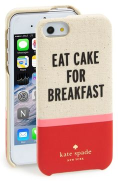 So much love for this fun 'Cake for Breakfast' iPhone case available at @Nordstrom