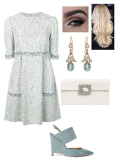 """Untitled #600"" by lovelifesdreams on Polyvore featuring Talbot Runhof, Paul Andrew and Roger Vivier"