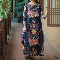 Spring Floral Cheongsam Dress