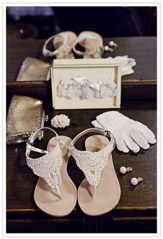 Crochet sandals for the bohemian bride