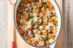 Easy tuna and sweet potato risotto :)