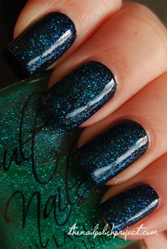 Cult Nails Hypnotize Me over black (one light mani, $7 shipped or take both Cults for $12 shipped)