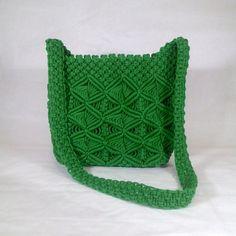 Green Macrame Shoulder Bag