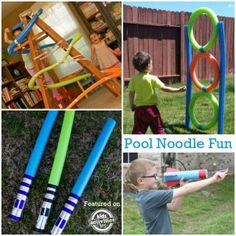 Fun activities with pool noodles