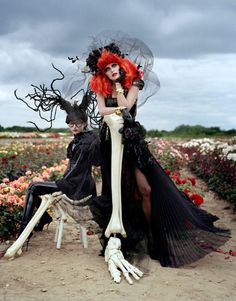 Harpaar's Bazaar: Tim Burton's Magical Fashion - In anticipation of his retrospective at New York's Museum of Modern Art, filmmaker Tim Burton reimagines the season's dark delights. Photographs by Tim Walker. (September, 2009)