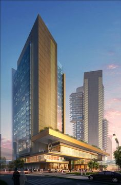 King Abdullah Financial District by Syed Uzair Ullah, via Behance Hotel Design Architecture, Office Building Architecture, Public Architecture, Architecture Visualization, Commercial Architecture, Amazing Architecture, Modern Architecture, Mix Use Building, Tower Building