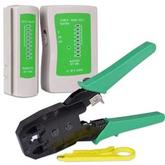 Network Cable Tester with RJ-45-RJ-11 Crimping Tool - Retail Hanging Packages