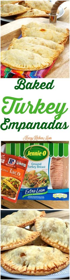 Keep Your New Year's Resolution with Baked Turkey Empanadas made with Jennie-O Ground Turkey Breast.