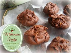 When it comes to sweet treats, millionaire fudge is number one at our house. It doesn't really matter what type of fudge I'm making, the kids will devour it Fudge Recipes, Candy Recipes, Holiday Recipes, Cookie Recipes, Dessert Recipes, Quick Dessert, Copycat Recipes, Christmas Sweets, Christmas Baking