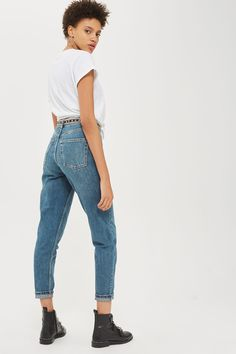 MOTO Authentic Blue Mom Jeans
