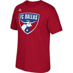 adidas Men's FC Dallas Logo Red T-Shirt, Size: Medium