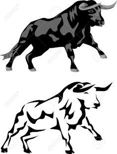 Resultado de imagen de blanco y negro toros