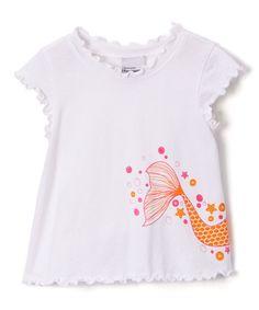 White Magical Mermaid Tee - Infant Toddler & Girls