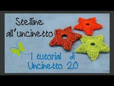 ▶ Tutorial uncinetto - Stella a 5 punte - YouTube