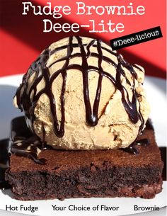 Your groove I do deeply dig...NEW Fudge Brownie Deee-lite Sundae is here! It's also lovely and deee-licious #Dig #lickthat #fudgebrownie #sunday #coffee #icecream
