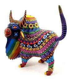 Oaxacan Wood Carvings Zeny Fuentes Bull